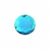 Acrylic 16mm Round Facet Aqua